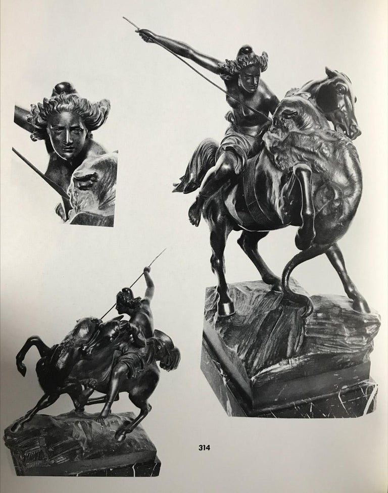 """""""Amazonian Fighting a Tiger"""" German Antique Bronze Sculpture by August Kiss For Sale 16"""