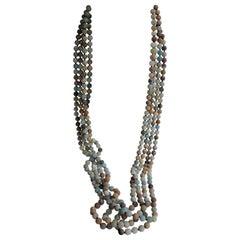 Amazonite Long Gemstone Necklace