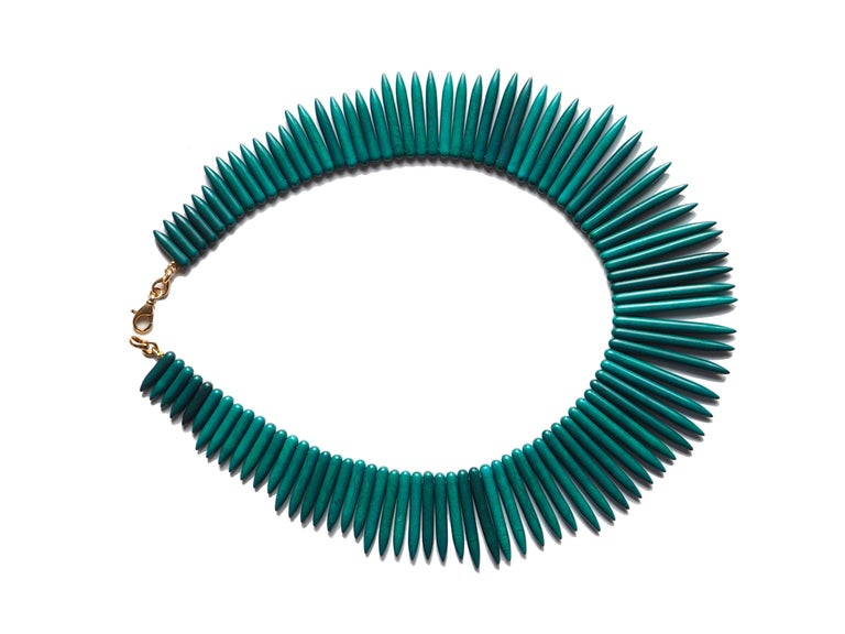 Amazonite Modern Shape Necklace In New Condition For Sale In Milan, IT