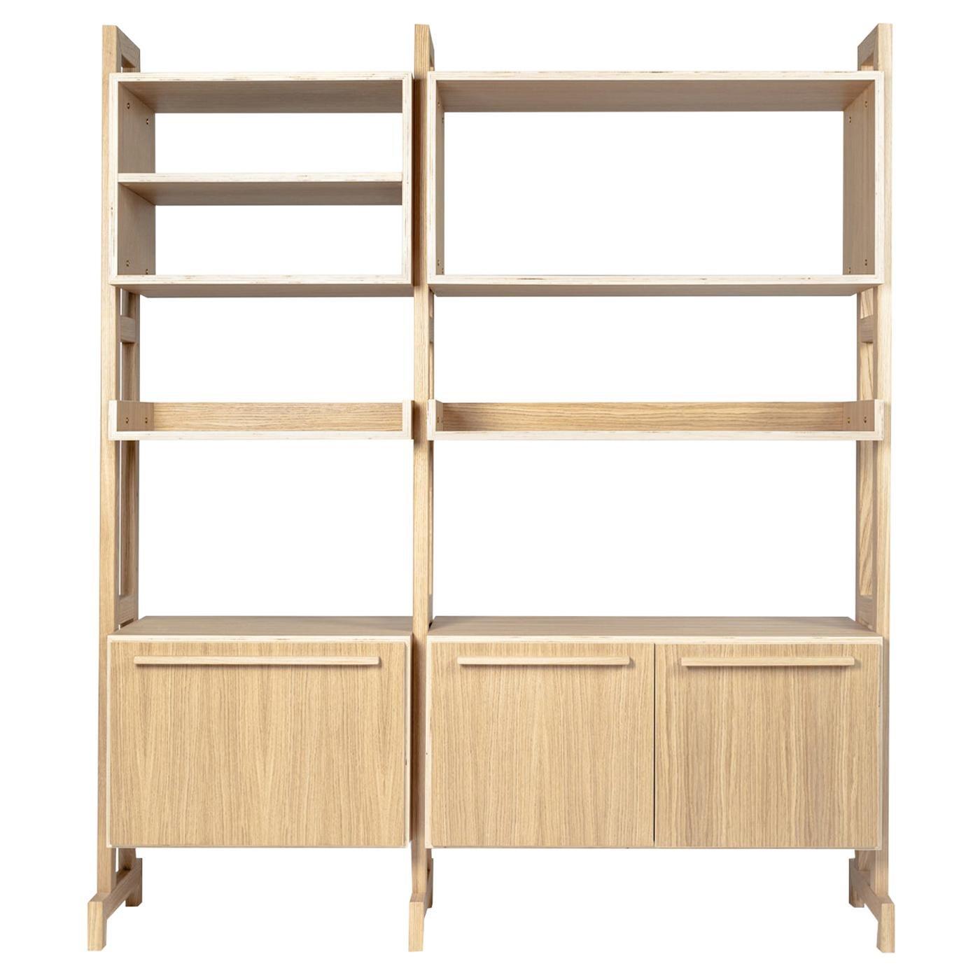 Amazzonia 150 Large Oak Modular Bookcase