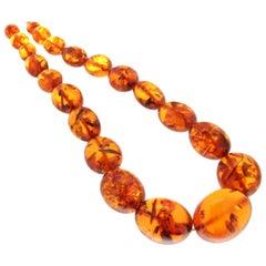 Amber 18 Karat Yellow Gold Rope Necklace