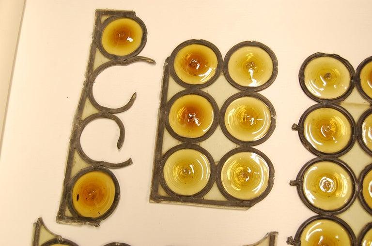 British Amber Bullseye Glass Rondoles For Sale