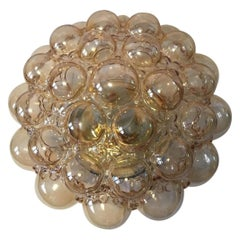 Amber Bubble Glass Flush Mount Limburg Germany by Helena Tynell