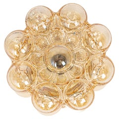 Amber Bubble Glass Sconce by Helena Tynell, Limburg, Germany