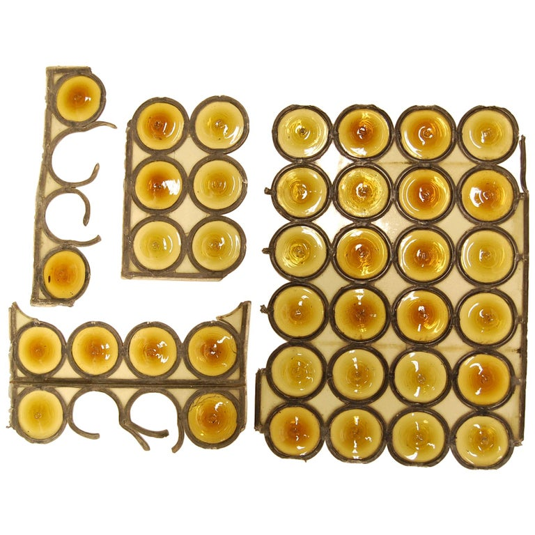 Amber Bullseye Glass Rondoles For Sale
