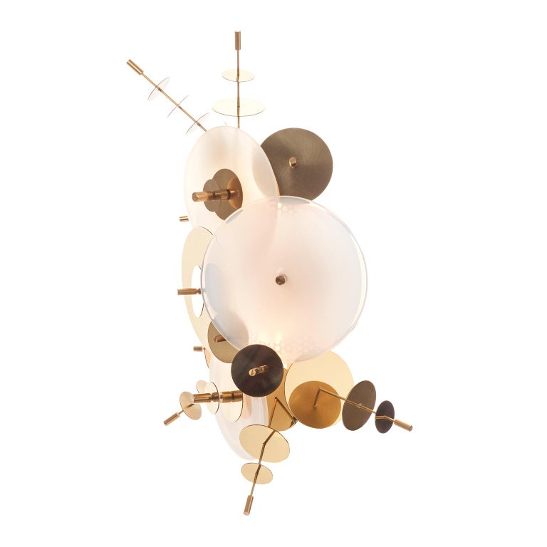 Amber Confetti Collection Sconce by AVRAM RUSU STUDIO In New Condition For Sale In Brooklyn, NY