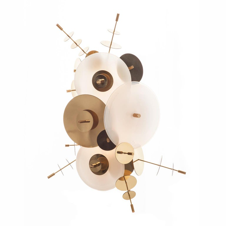Contemporary Amber Confetti Collection Sconce by AVRAM RUSU STUDIO For Sale