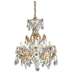 Amber Crystal Antique Chandelier Ceiling Murano Florentiner Lustre Art Nouveau