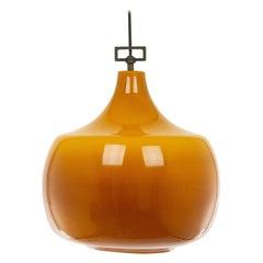 Amber Glass Pendant by Venini, 1950s