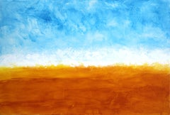 Happiness In A Sunset - Large Original Abstract Landscape Painting