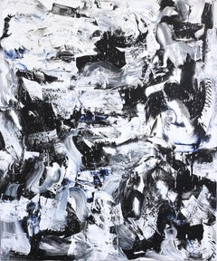 Life's Terrain - Large Black and White Abstract Artwork