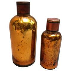 Amber Mercury Glass Apothecary Jars