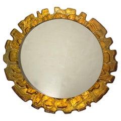 Amber Moderne Style Mid-Century Mirror