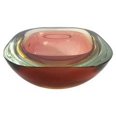 Amber Murano Glass Bowl