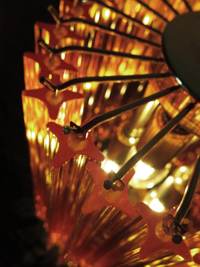 Amber Quadriedri Table Lamp, Venini Style 3