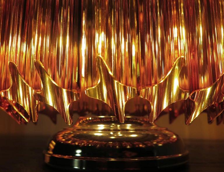 Amber Quadriedri Table Lamp, Venini Style For Sale 3