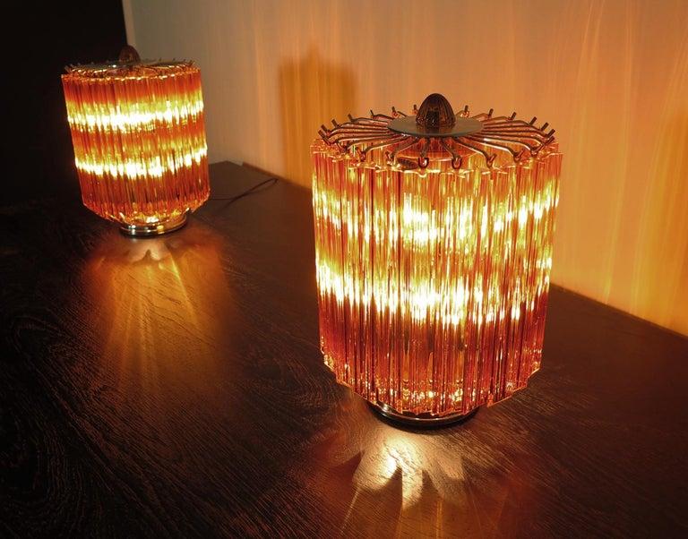 Amber Quadriedri Table Lamp, Venini Style For Sale 4