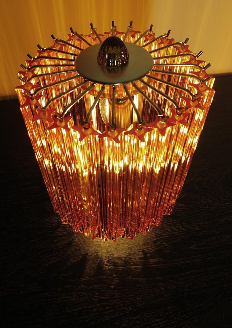 Amber Quadriedri Table Lamp, Venini Style 5
