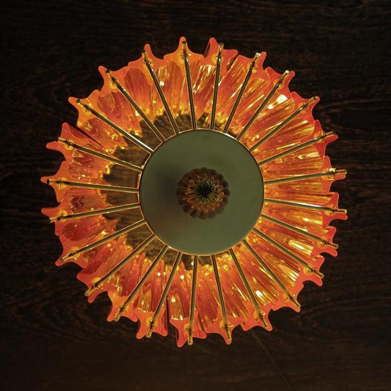 Amber Quadriedri Table Lamp, Venini Style For Sale 5
