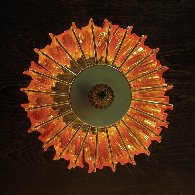 Amber Quadriedri Table Lamp, Venini Style 7