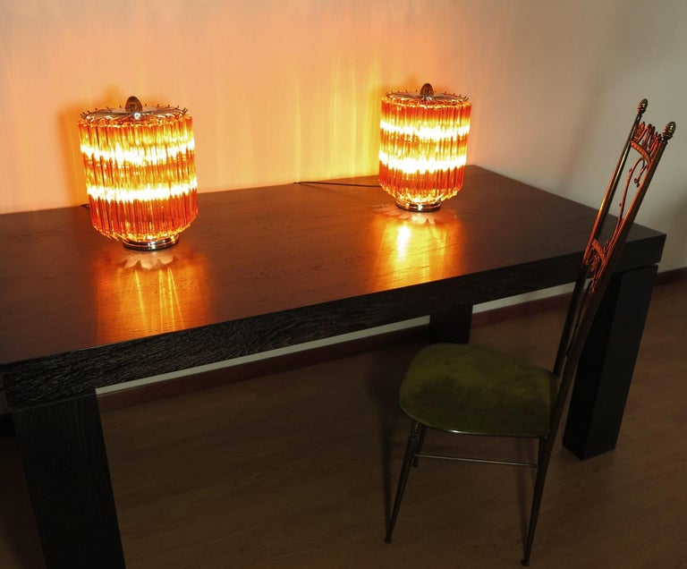 Amber Quadriedri Table Lamp, Venini Style 8