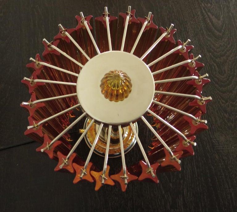Amber Quadriedri Table Lamp, Venini Style In Good Condition For Sale In Gaiarine Frazione Francenigo (TV), IT