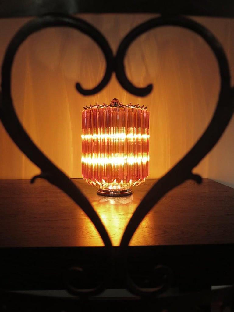 Amber Quadriedri Table Lamp, Venini Style For Sale 1