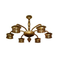 Amber Venetian Glass Chandelier