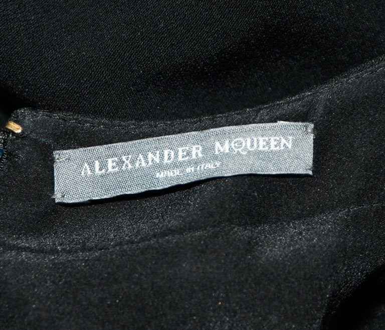 Ambitious Alexander McQueen Black Paneled Sleeveless Dress For Sale 1