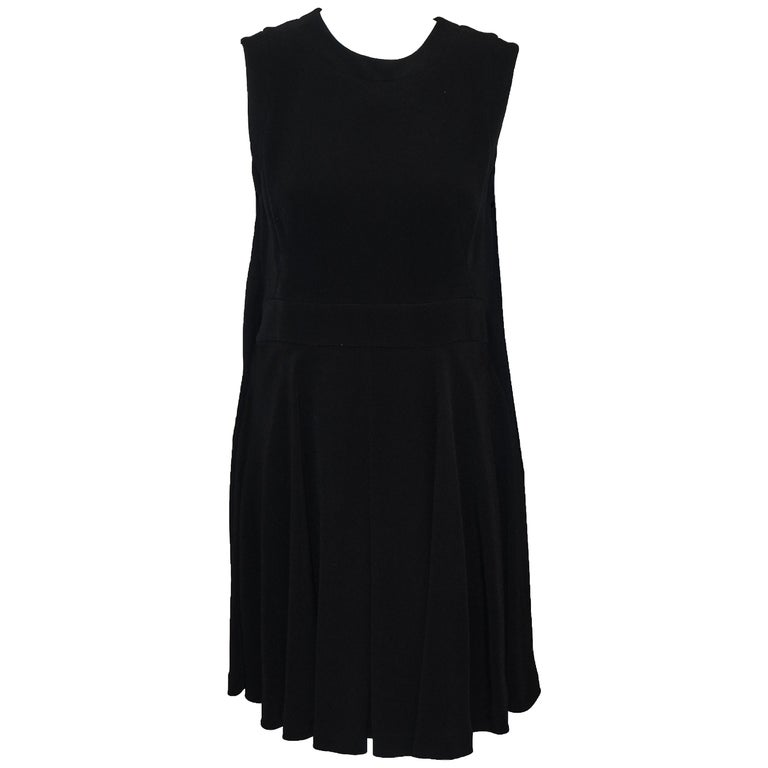 Ambitious Alexander McQueen Black Paneled Sleeveless Dress For Sale