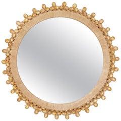 Amber Cabochon Rock Crystal Mirror by David Duncan