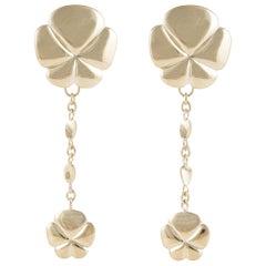 Ambrosi Yellow Gold Dangle Earrings
