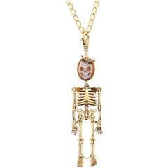 """Amedeo 18 Karat Gold """"Skeledeo"""" Necklace"""
