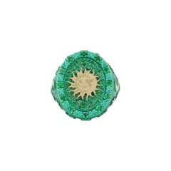 """Amedeo """"An Astral Journey"""" Ring with 18kt Gold & Tsavorites"""