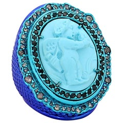 "Amedeo ""Archangel Of Capri"" Turquoise Cameo Ring"