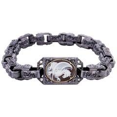"Amedeo ""Leviathan"" Cameo Bracelet with White Diamonds"