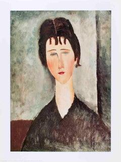 1996 Amedeo Modigliani 'La Fanciulla Bruna' Modernism Gray,White,Brown Italy