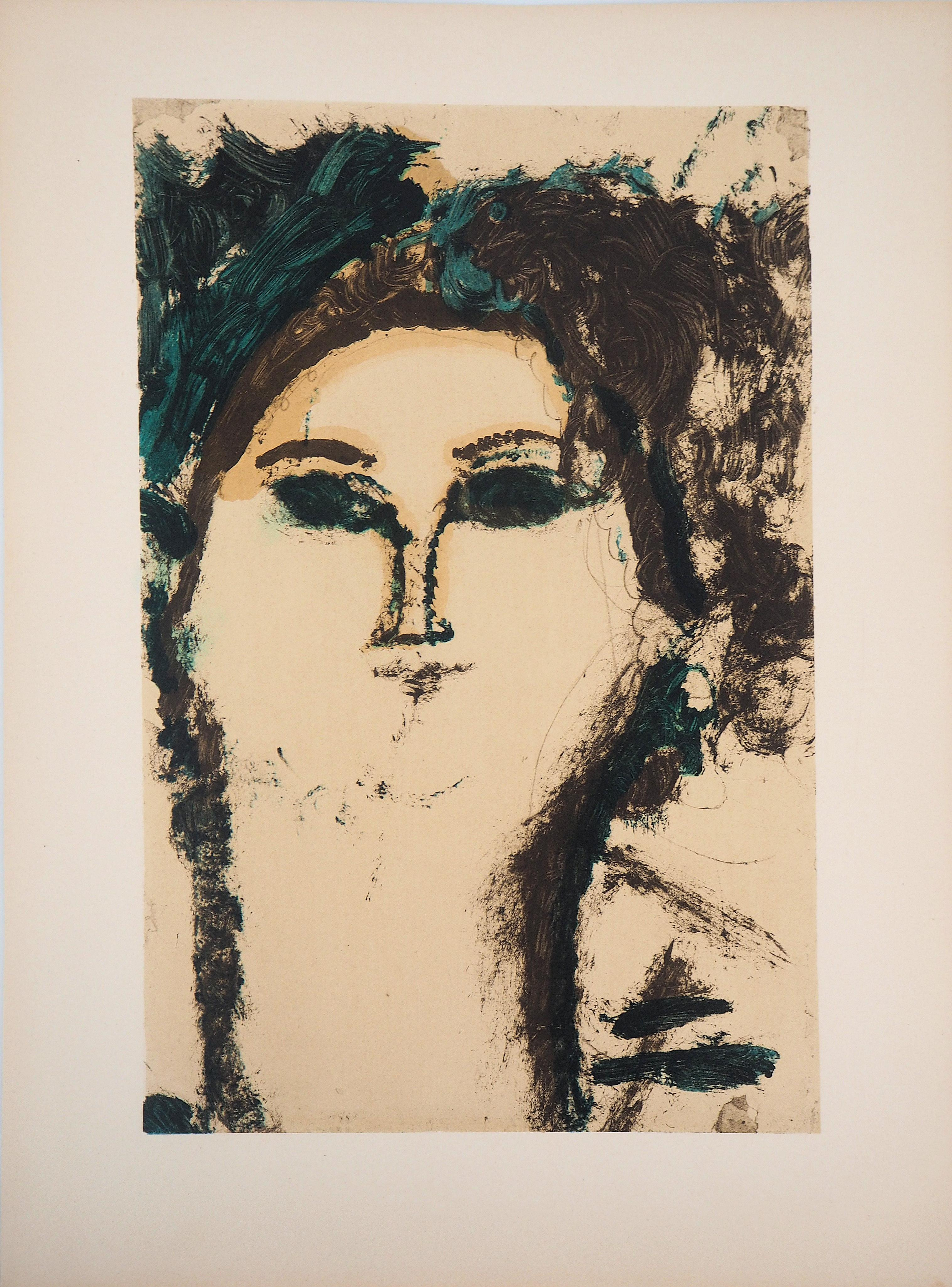 Beatrice Hastings in Green - Lithograph