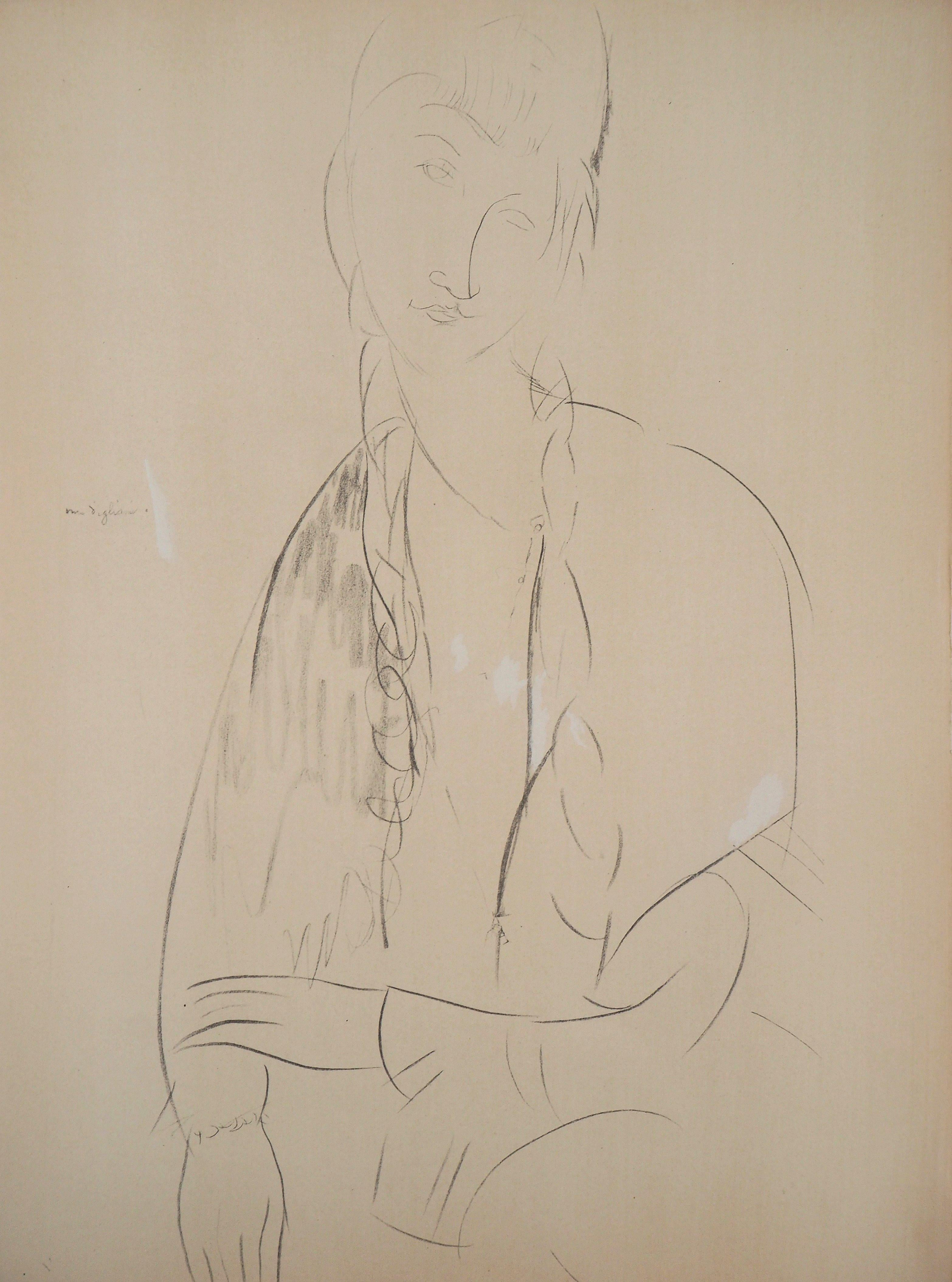 Portrait of Jeanne - Lithograph signed in the plate (Leda 1960)