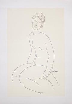 """""""Seated Nude Woman, 1916-1917"""" Silkscreen Print. Printed In Italy."""