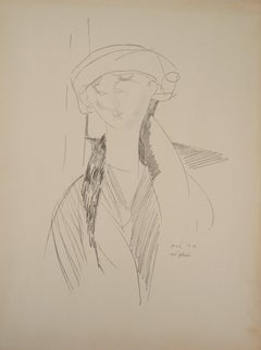 The Poet, Young Woman - Lithograph signed in the plate (Leda 1960)