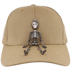"Amedeo ""Skeledeo"" Cameo Cap with Pink Sapphires"