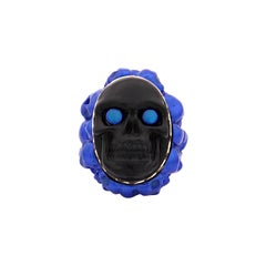 """Amedeo """"Stendhal Syndrome"""" Blue Cameo Ring"""