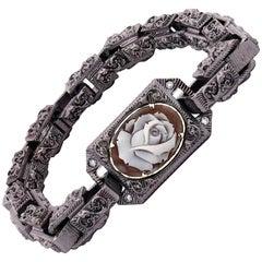 "Amedeo ""Venetian Ephemera"" Cameo Bracelet with White Diamonds"