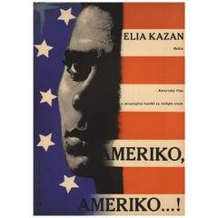 America, America 1965 Czech A3 Film Poster