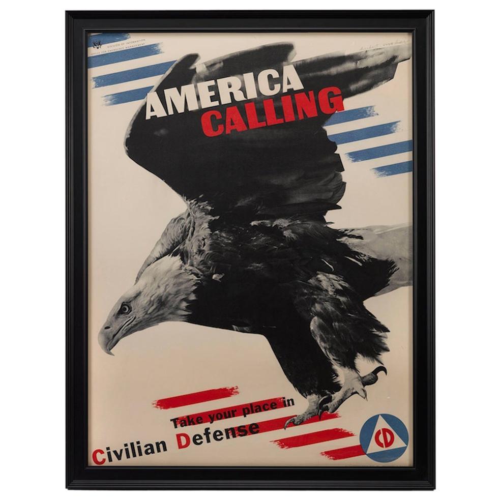 "WWII Poster ""America Calling,"" Vintage Patriotic Poster, 1941"