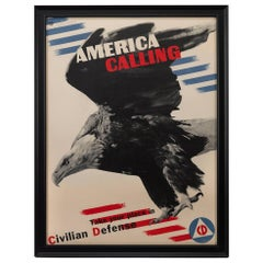 "WWII Poster ""America Calling,"" Vintage Patriotic Poster, 1941"