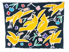 Birds Gather Flowers_America Martin w. Jada+Jon_Acrylic/Hand-Stitching_Animals