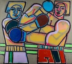Boom, Pow, America Martin (Figurative, Boxing Painting)