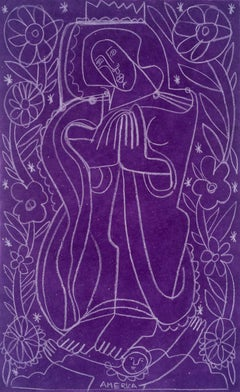 Daisies for Our Lady Guadalupe_2021, America Martin_Female Figure on Paper
